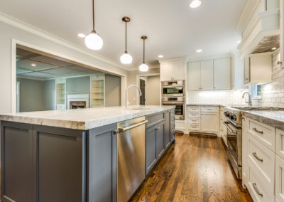 two toned kitchen remodel with center island