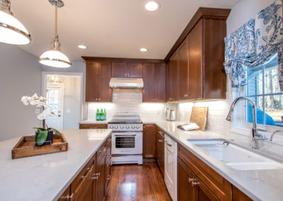 transitional retro kitchen remodel