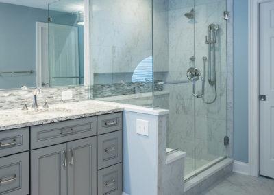 master bathroom renovation with walk-in shower