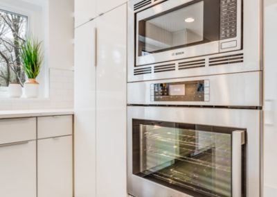 custom cabinets with built in oven and microwave