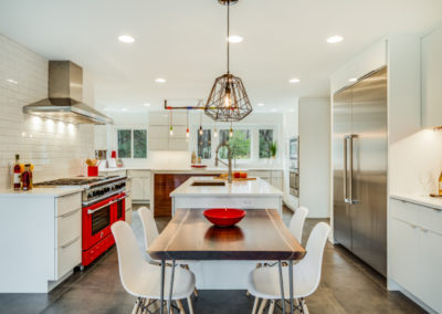 modern kitchen remodel with center island