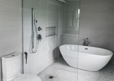 luxury master bathroom remodel with freestanding bath tub