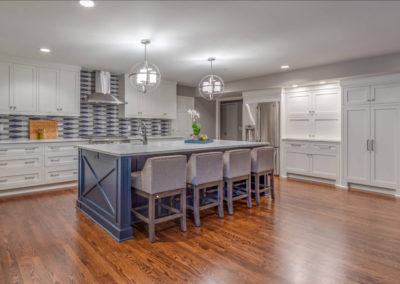 remodeled kitchen with seating island