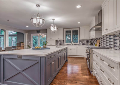 transitional two toned kitchen remodel