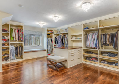 master closet remodel with window seat