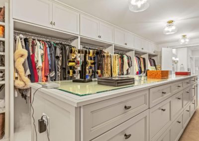 luxury master closet remodel with center island