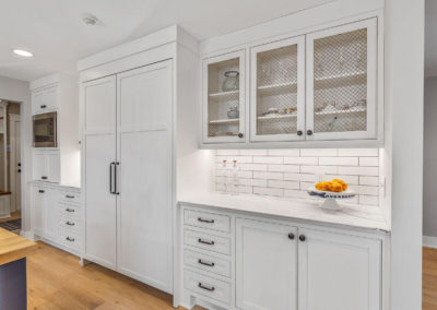 farmhouse kitchen remodel with white cabinetry