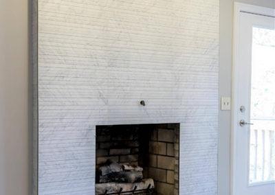 modern fireplace remodel