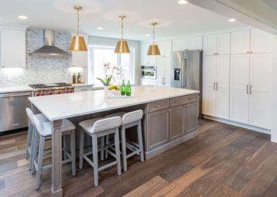 two toned gray and white kitchen remodel
